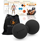 5BILLION Double Massage Ball - Therapy Peanut Ball, Stress Ball, Double Lacrosse Ball - Deep Tissue Massage Tool for…