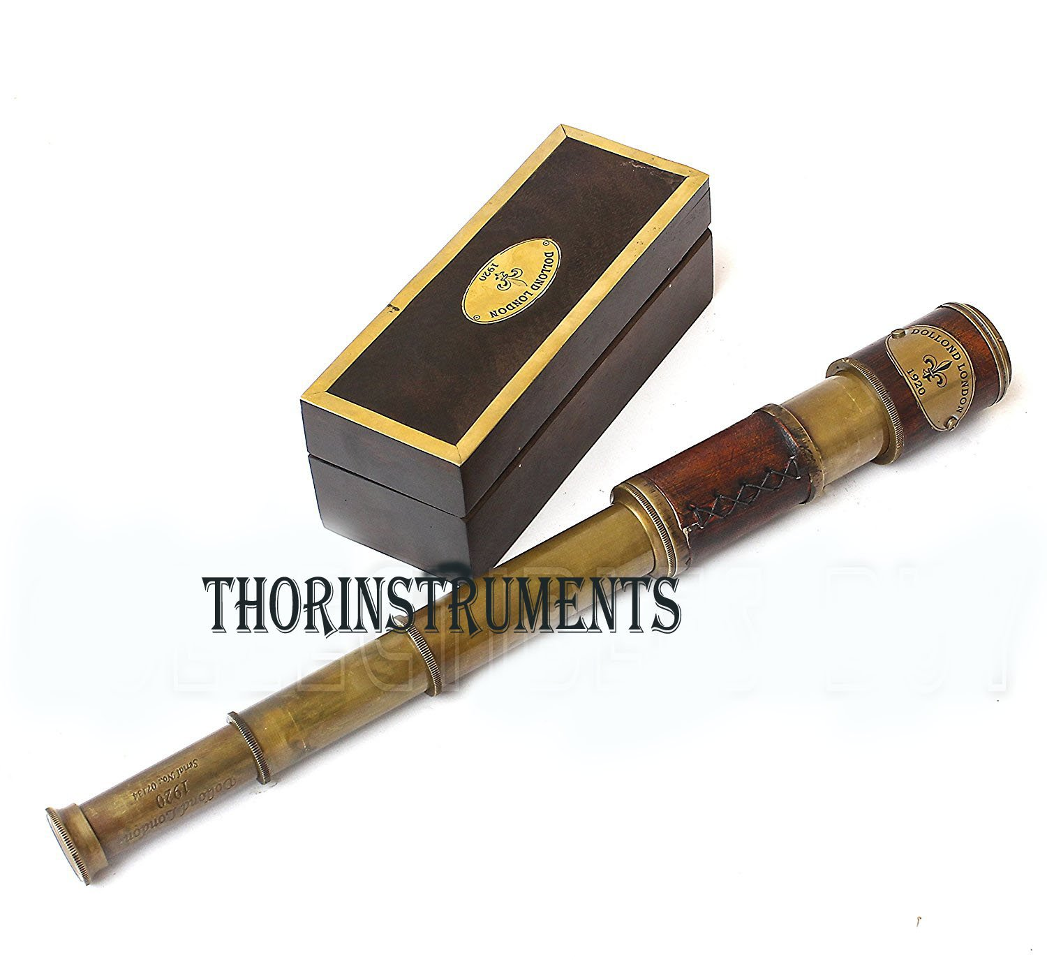 Brass & Leather Sailor Look Brass Antique Sea Marine Telscope by THORINSTRUMENTS (with device) (Image #2)