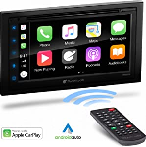Planet Audio P9950CPA Apple Carplay Android Auto Car Multimedia Player - Double-Din, 6.75 Inch LCD Touchscreen, Bluetooth, MP3-DVD-CD-USB-Aux in, Am/FM Car Radio, Multi Color Illumination