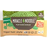 Miracle Noodle Spinach Shirataki Noodles, 7 oz (Pack of 24), Angel Hair Pasta, Low Carbs, Low Calorie, Gluten Free, Soy…