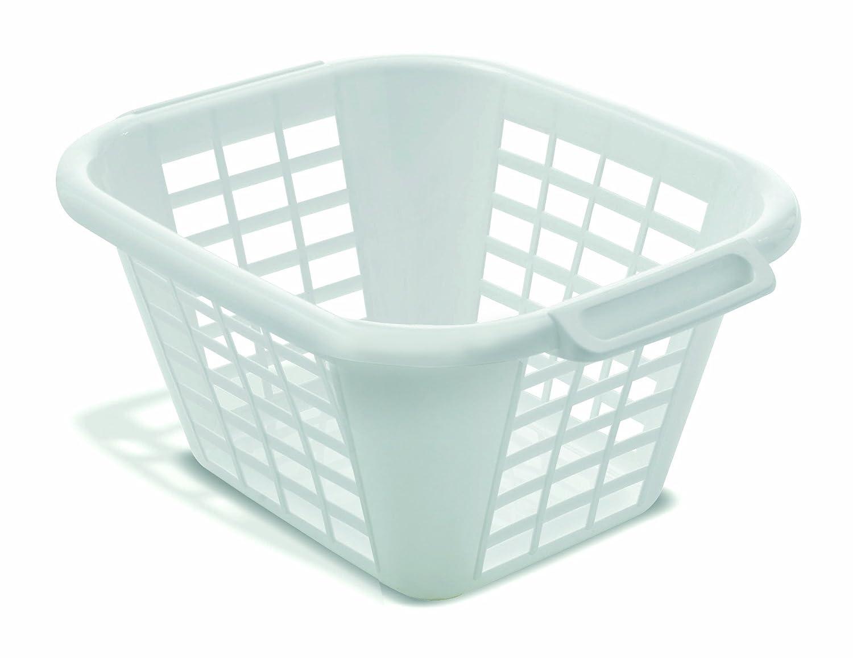 ADDIS 24 Litre Square Laundry Basket, White: Amazon.co.uk: Kitchen ...