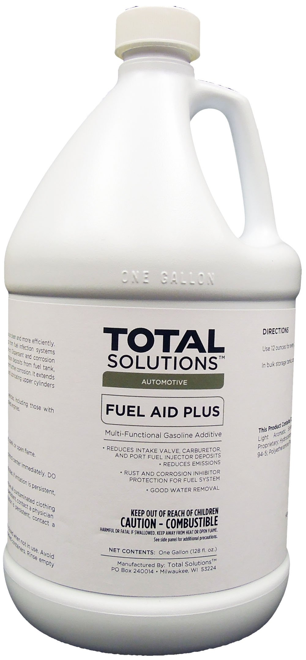 Fuel Aid Plus, Fuel Injector Cleaner and Conditioner for Gasoline - 4 Gallons