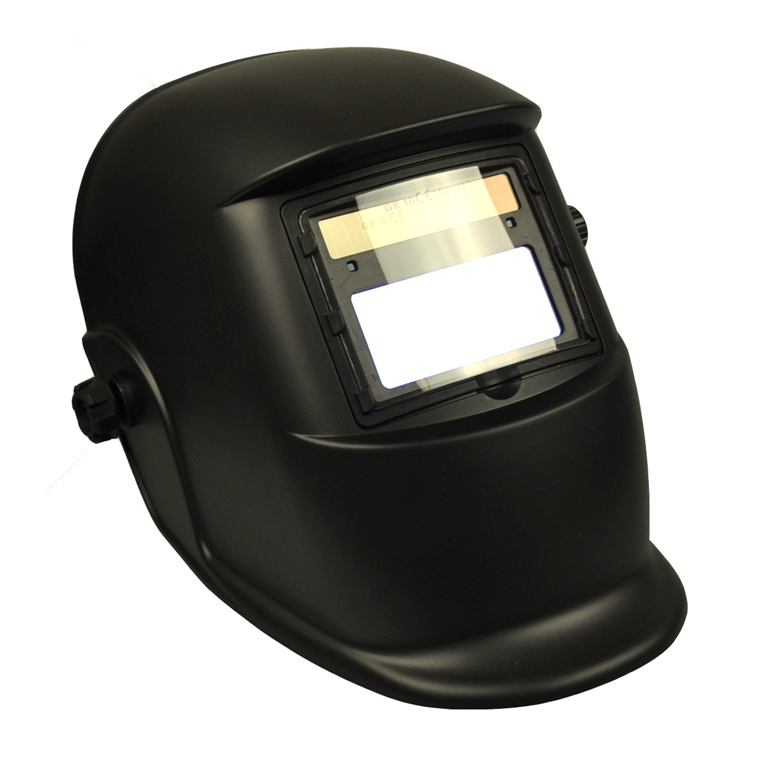 Instapark ADF Series GX-500S Solar Powered Auto Darkening Welding Helmet with Adjustable Shade Range #9 - #13 (Black)