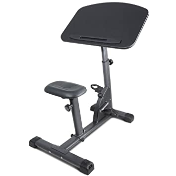 titan fitness cycling adjustable standing exercise desk sit stand up black top