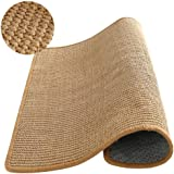 M&MKPET Natural Sisal Cat Scratcher Mat Horizontal Cat Floor Scratching Pad Rug Scratch Pad for Cat Grinding Claws…