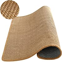 """M&MKPET Natural Sisal Cat Scratcher Mat,Scratch Pad for Cat Grinding Claws & Protecting Furniture (23.6"""" 23.6"""")"""
