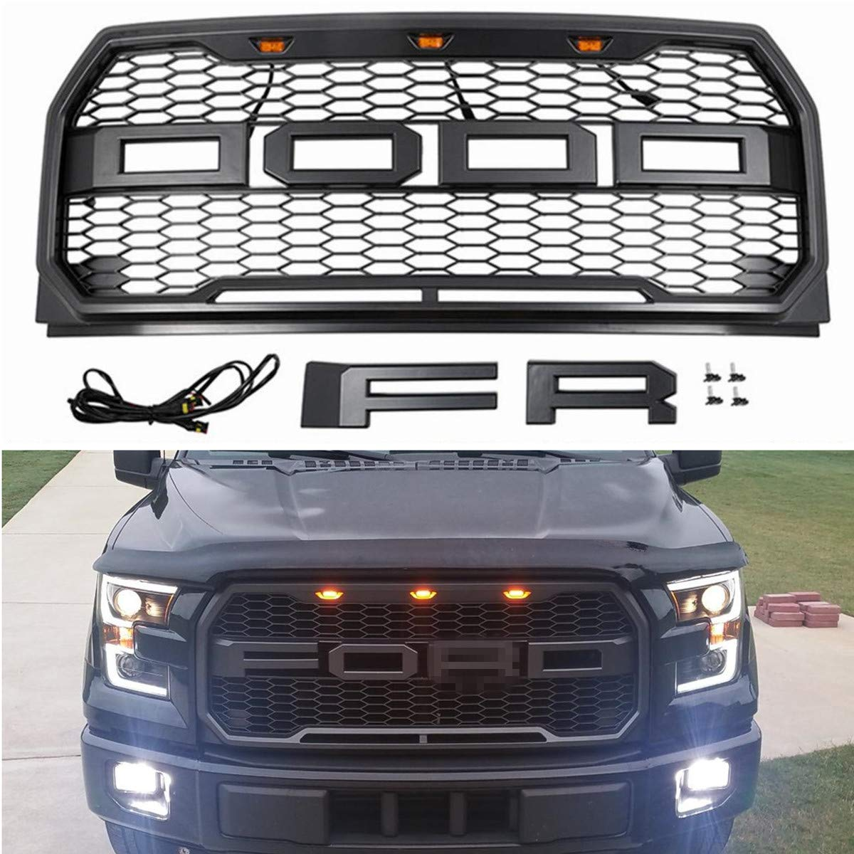 Seven Sparta Front Grill for F150 (15-17/gray)