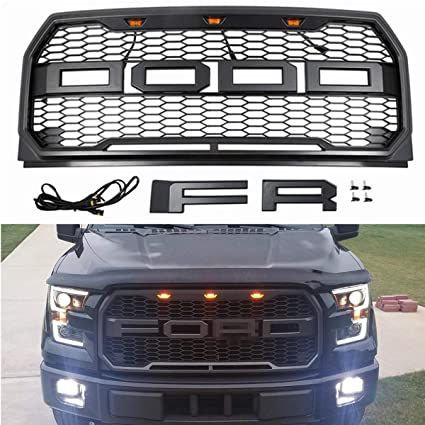 Seven Sparta Front Grill For F150 15 17 Gray