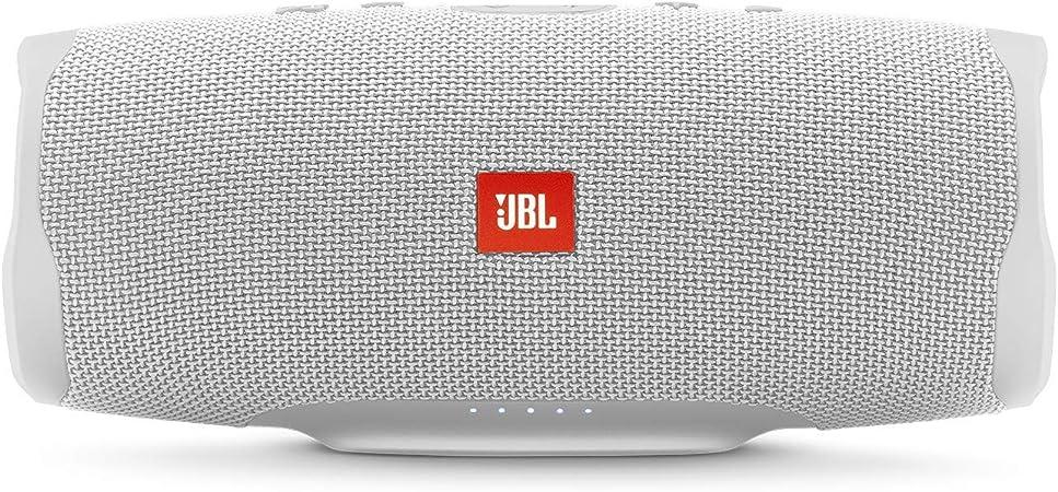 JBL Charge 4 Waterproof Portable Bluetooth Speaker- White (Renewed)
