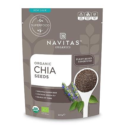 Navitas Naturals Semillas de chía cruda orgánicas: Amazon ...