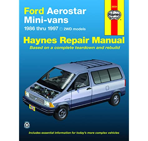 ford aerostar mini-vans (86-97) haynes repair manual (does not include  information specific to awd models. includes thorough vehicle coverage  apart ... exclusion noted) (haynes repair manuals): haynes: 0038345014765:  amazon.com: books  amazon.com