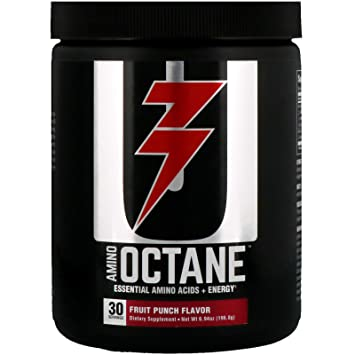 Universal Nutrition Amino Octane Essential Amino Acids + Energy, Fruit Punch, 30 Count