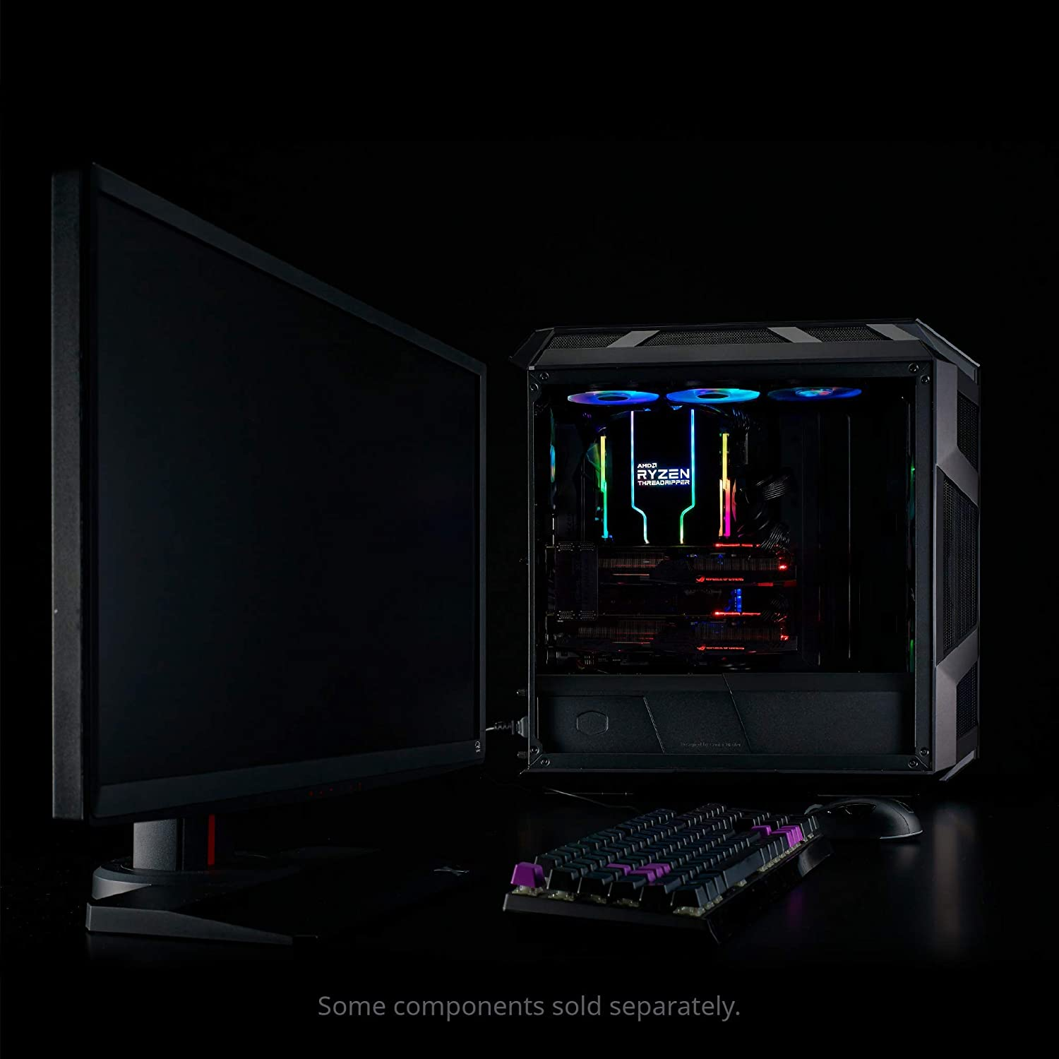Hexagon Logo SF120R 120mm Fan Cooler Master MasterAir MA620M Dual Tower Addressable RGB High Performance CPU Air Cooler w// 6 Continuous Direct Contact 2.0 Heatpipes Embedded Addressable RGB Lightin