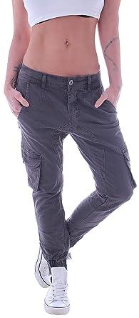 d12743ff7750f7 Style-Station Damen Cargohose Cargo Boyfriend Jeans Chino Baggy Harems Hose  Hüftjeans XS 34 S 36 M 38 L 40 XL 42