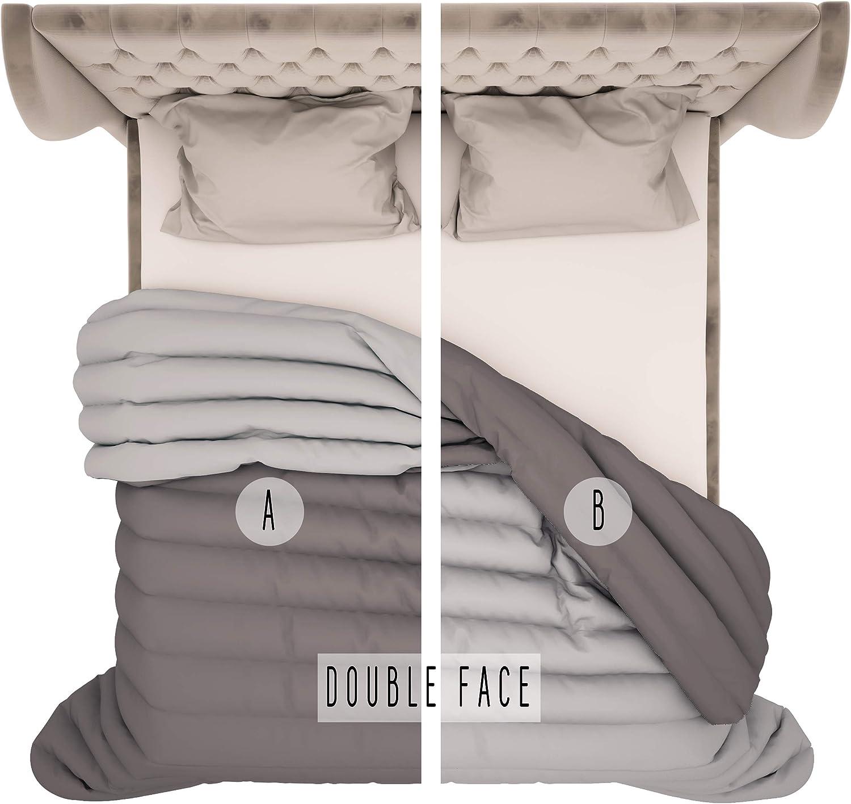 100 /% fabriqu/é en Italie. en velours doux et chaud PETTI Artigiani Italiani Couette dhiver pour lit simple