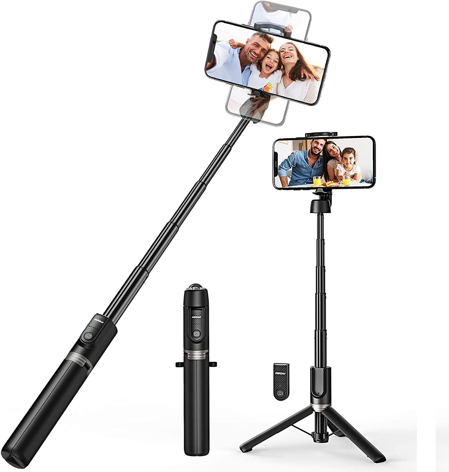 Selfie Stick, Mpow Selfie Stick Tripod with Bluetooth Remote, 360° Rotation Extendable Phone Tripod Stand Selfie Stick Compatible with iPhone11, X, iPhone 8, 8 Plus, 7, 7 Plus, Galaxy S9 S8 and More