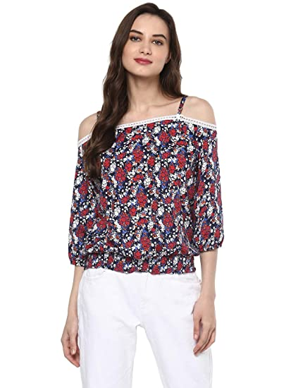 ce1ace9f52e7e Pannkh Women s Floral Smoking Top  Amazon.in  Clothing   Accessories