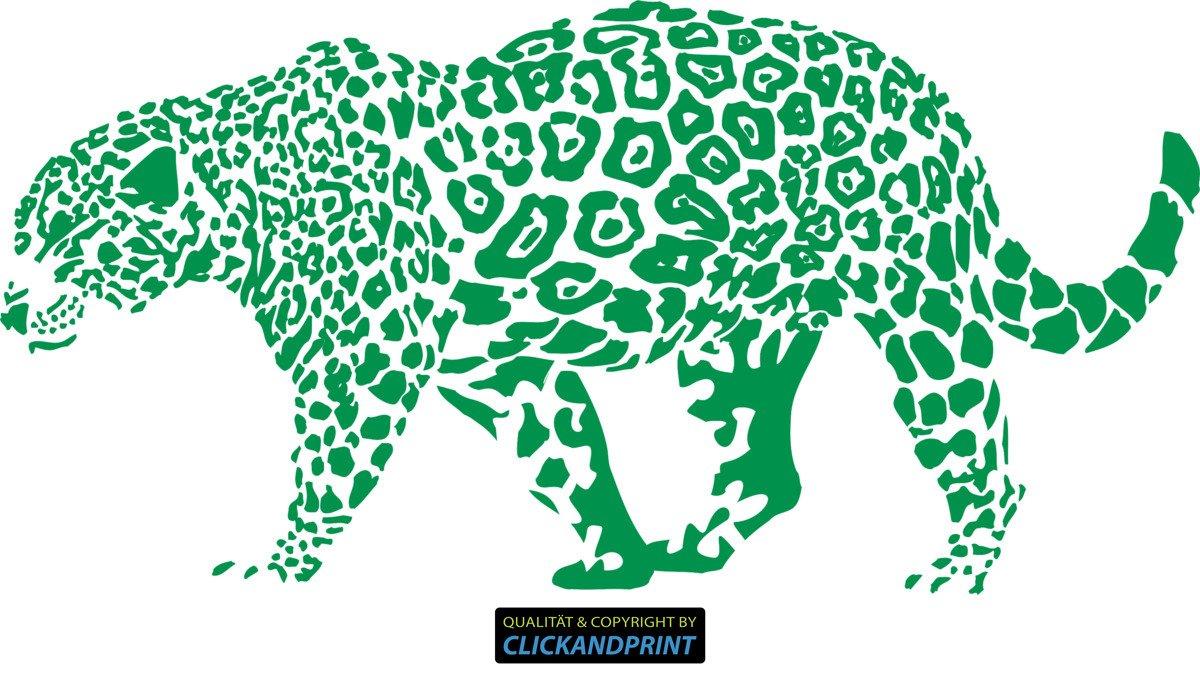 CLICKANDPRINT Aufkleber » Leopard, Leopard, Leopard, 150x74,4cm, Türkis • Wandtattoo   Wandaufkleber   Wandsticker   Wanddeko   Vinyl B073X7D8KJ Wandtattoos & Wandbilder 5c6286