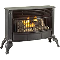 Cedar Ridge Heart Cedar Ridge Hearth Vent-Free Natural Liquid Propane Stove-25,000 BTU, T-Stat Gas Stove Black