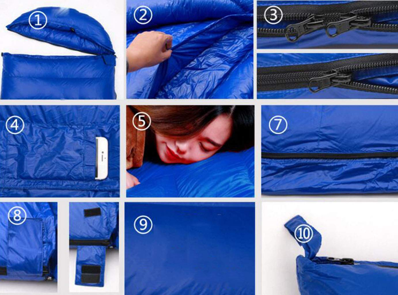 JBHURF Winter Daunenschlafsack Outdoor Camping Tragbarer Schlafsack Geeignet für Wandern Wandern Wandern (Kapazität   1.6kg, Farbe   rot) B07KJQ6MV7 Schlafscke Gute Qualität fde104