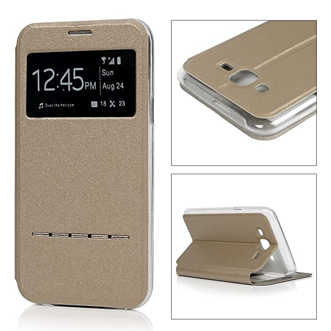 6 opinioni per YOKIRIN Custodia per Samsung J500 Galaxy J5 Custodia Pelle View Case Cover in PU