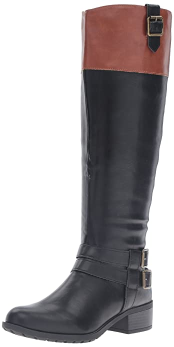Amazon.com | Rampage Women's Ingred Wide Calf Riding Boot | Knee-High