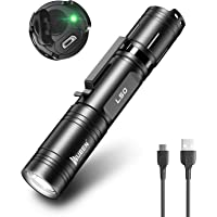 WUBEN LED 1200 Lumens Super Bright Rechargeable Tactical FlashLight with 5 Modes Handheld Pocket