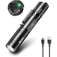 WUBEN L50 Linterna LED de 1200 lúmenes, recargable, profesional, súper brillante, impermeable, táctica, 5 modos…