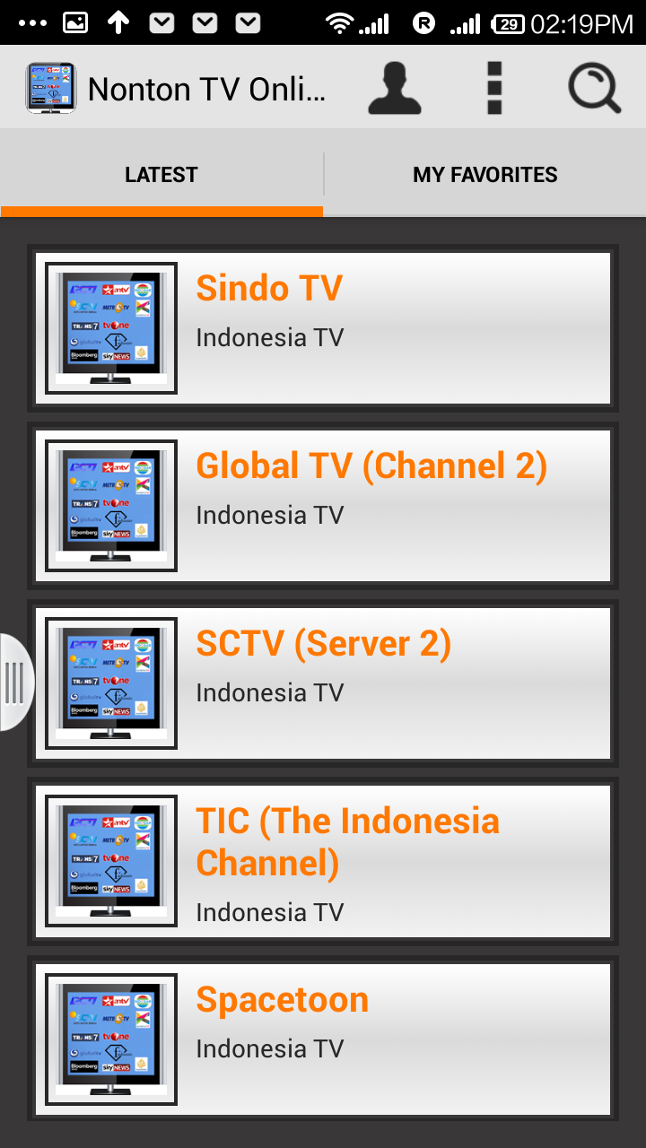 Amazon Com Nonton Tv Online Indonesia Appstore For Android