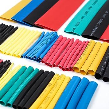 Caja de tubos termorretráctiles (de 1 a 14 mm, 328 unidades, escala 2:1): Amazon.es: Electrónica