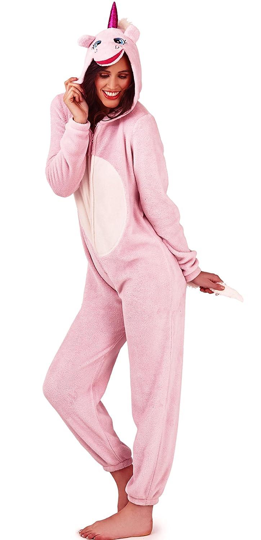 morbida tuta intera zip su tutta la lunghezza del pigiama Loungeable Boutique @ Purdashian pigiama in pile da donna