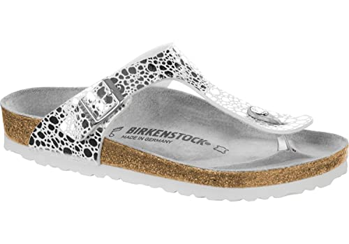82042e22447 Birkenstock Gizeh BF W thong sandals stones silver  Amazon.co.uk  Shoes    Bags