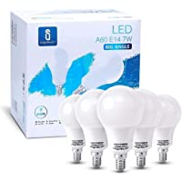Aigostar - Bombilla LED A60, Casquillo E14, 7W, Luz Fría 6400K, Ángulo 280°, 595 lúmenes - Caja de 5 unidades