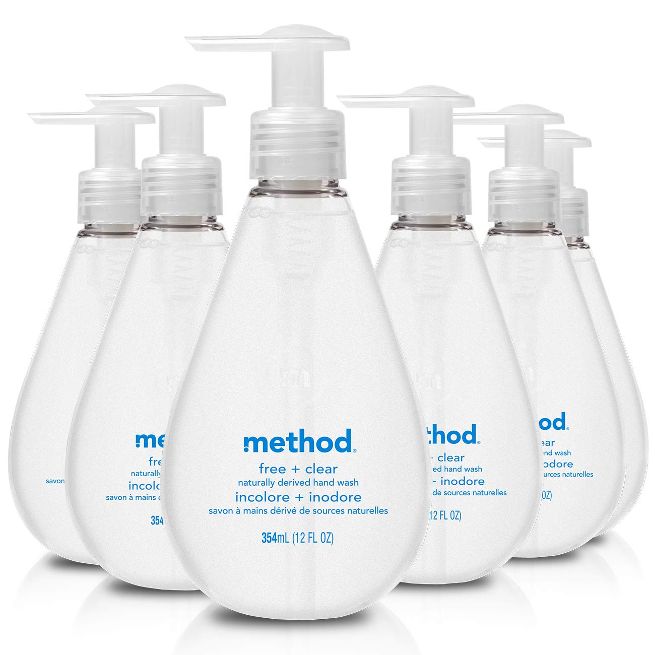 Method Gel Hand Soap, Free + Clear, 12 Fl Oz (Pack of 6)
