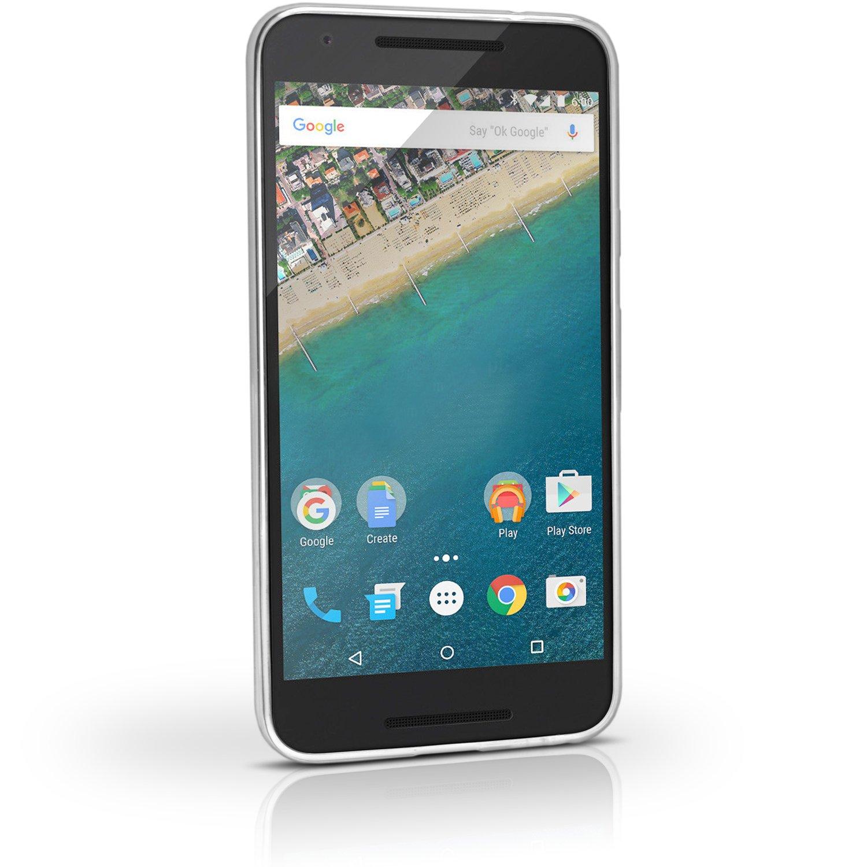 igadgitz Transparente Claro Lustroso Funda Carcasa Gel TPU para LG Nexus 5X Case Cover + Protector Pantalla
