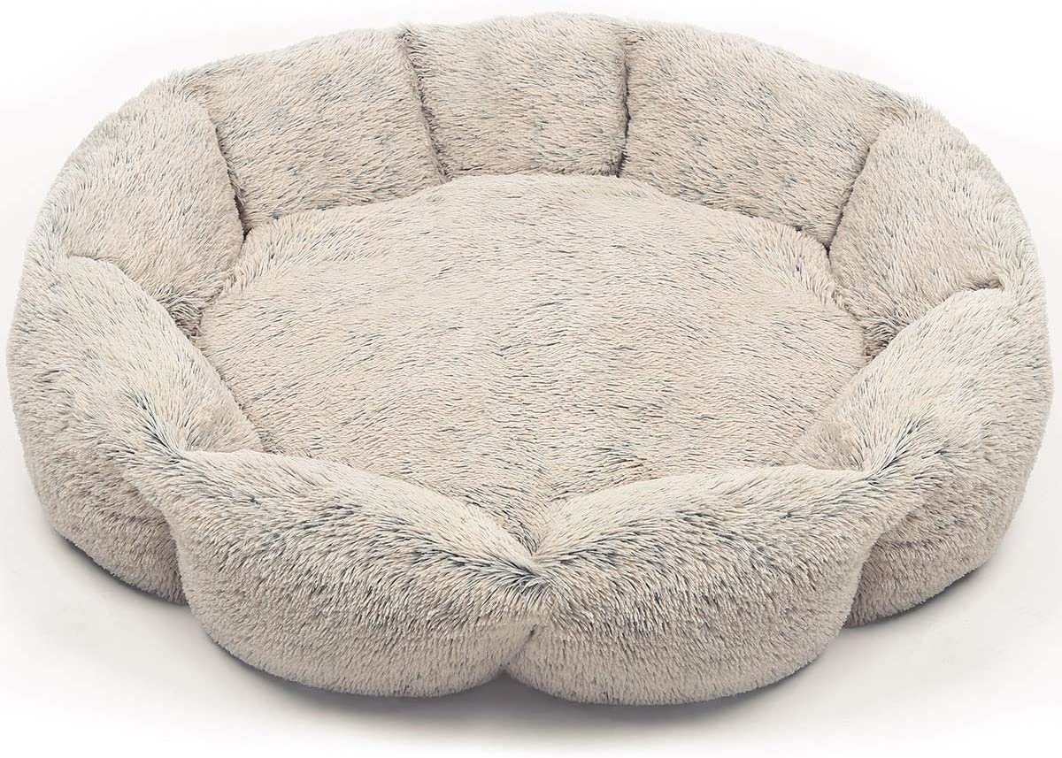URPOWER Dog Bed, Upgraded Donut Cuddler Round Dog and Cat Cushion Bed, Ultra Soft Cozy Pet Beds Fluffy Dog Calming Bed Cat Beds for Improved Sleep – Removable and Supportable Bottom