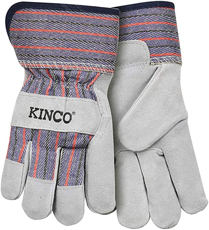 Kinco Kids Suede Cowhide Palm with Safety Cuff