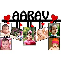Unique Stuff Personalized Photo Name Collage (Multicolour)