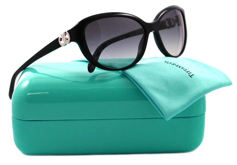 2c11f4d2f534f Tiffany 4045 80013C Black 4045 Cats Eyes Sunglasses Size 58  Amazon.co.uk   Clothing