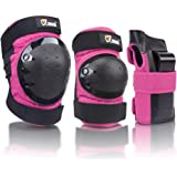 JBM 成人 / 儿童护膝护肘护腕护具3合1防护 GEAR set 适用于多种颜色运动 skateboarding inline 滚筒滑冰骑行骑车 BMX 自行车滑板车