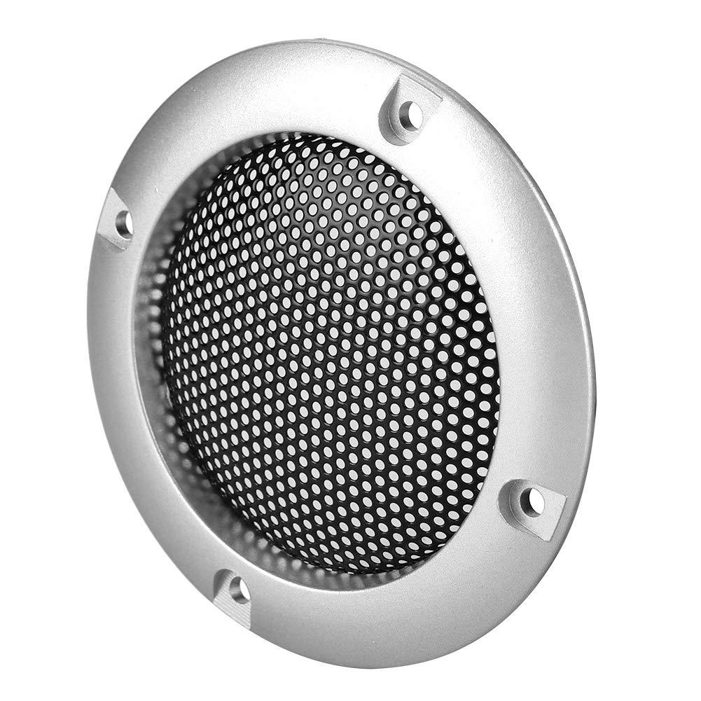 Plateado Tosuny 2 Pzs Rejillas de Altavoz 2 Estuche Cubierta Parrilla Redonda Altavoz Protector c/írculo Decorativo Accesorios de Audio Negro, Plateado