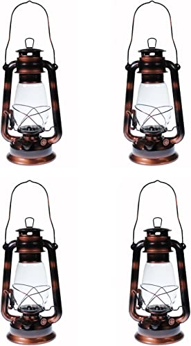 Shop4Omni S4O Hanging Hurricane Lantern Elegant Wedding Light Table Centerpiece Lamp – 12 Inches 4, Antique Brass