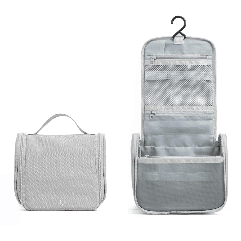 e6d06642ba75 JORDAN & JUDY Travel Toiletry Wash Bag with Hanging Hook (Grey)
