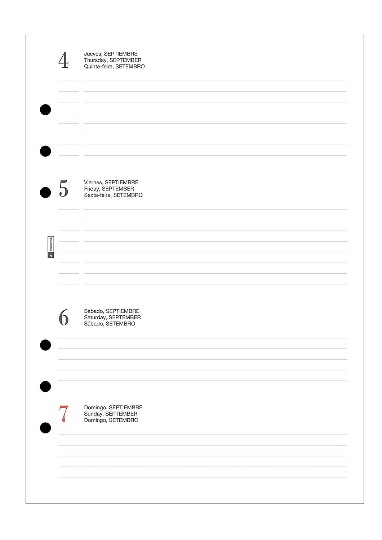 Agenda anualidad plus semana vista horizontal 2019 Miquelrius 24000