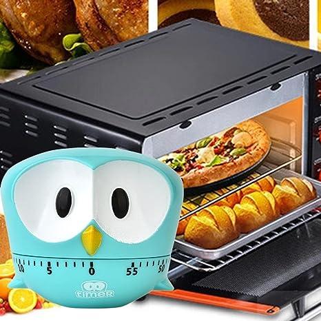 TAOtTAO - Temporizador para Cocina, 60 Minutos, Diseño de águila, Azul Celeste,