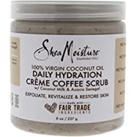 Shea Moisture 100 Percent Virgin Coconut Oil Daily Hydration Creme Coffee Scrub for Unisex - 8 oz, 294.83 grams