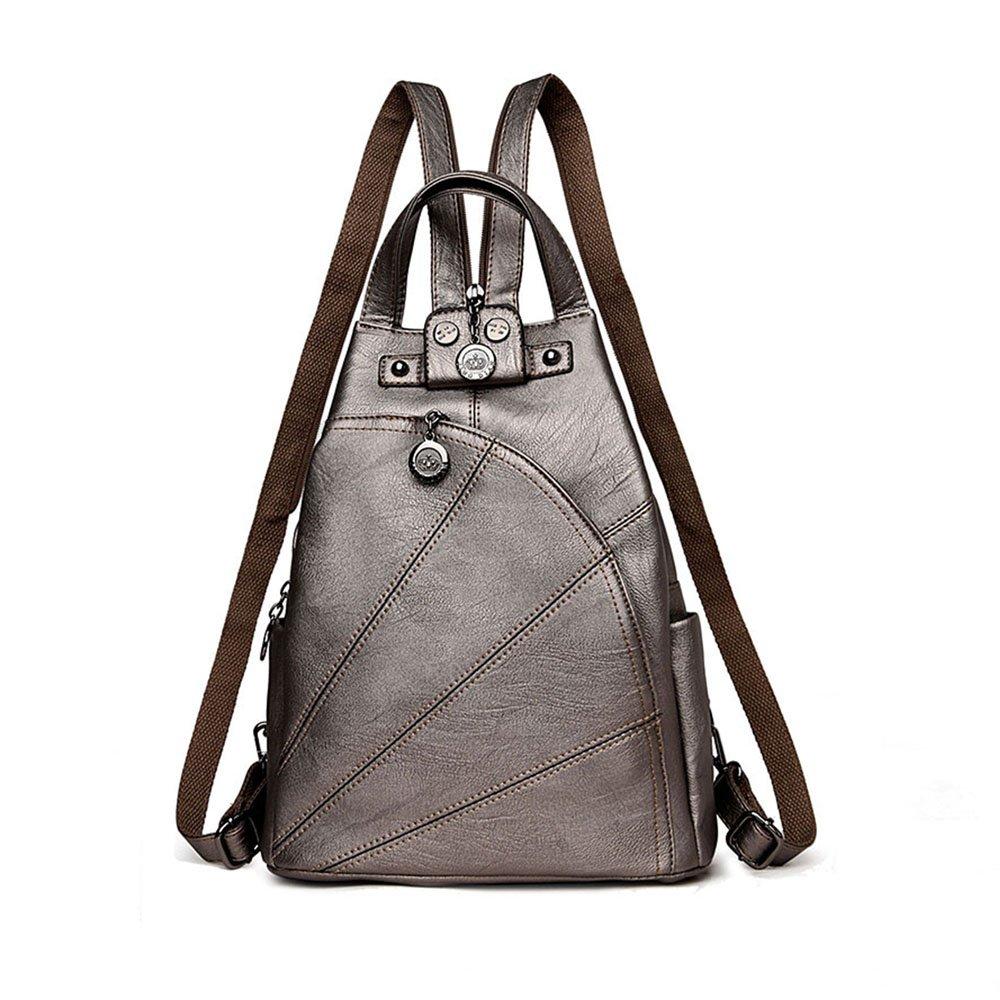 Artwell Fashion Backpack Purse Convertible Crossbody Shoulder Bag Leather Handbag for Lady (Bronze)