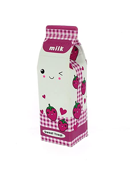 Girls Strawberry Milk Carton Design Pencil Case Party Gift School ...