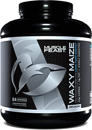 MUSCLE FEAST Waxy Maize, Natural Energy, Easily Digested Carbohydrate, Replenish Glycogen Stores, (8 lbs, Unflavored)