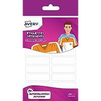 Avery 36 Etiquettes Vêtements - 45x13mm - Blanc (ETVET36)